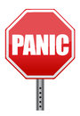 Panic stop sign illustration design Stock Photo