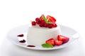 Panna cotta dessert Arkivfoto