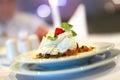 Panna cotta italiana del dessert Fotografie Stock