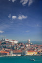 Panorama of alfama and graca cityscape of lisbon portugal eur european travel vertical Royalty Free Stock Photography