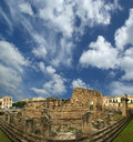 Panorama of of the ancient Greek temple of Apollo Royalty Free Stock Photos