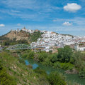 Panorama of Arcos de la Frontera, Andalusia, Spain Royalty Free Stock Photography