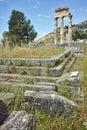 Panorama of Athena Pronaia Sanctuary at Delphi, Greece Royalty Free Stock Photo
