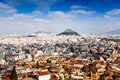 Panorama of Athens, Greece Royalty Free Stock Photo