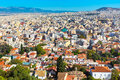 Panorama of Athens, Greece with houses and hills Royalty Free Stock Photo