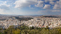 Panorama athens taken lycabettus hill greece Royalty Free Stock Photos