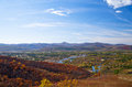 Panorama of autumn Royalty Free Stock Images