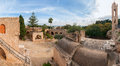 Panorama of the ayia napa monastery cyprus europe Royalty Free Stock Photography