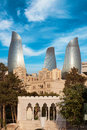 Panorama of Baku city, Azerbaijan Royalty Free Stock Photo