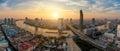 Panorama of Bangkok city skyline ,Thailand.