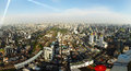 Panorama of Bangkok from the roof Baiyoke Sky Royalty Free Stock Photography
