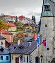 Panorama in Banska Stiavnica city, Slovakia