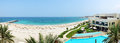 Panorama of the beach at luxury hotel fujairah uae Royalty Free Stock Photos
