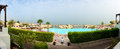 Panorama of the beach at luxury hotel ras al khaima uae Stock Photo
