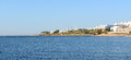 Panorama of a beach at luxury hotel sharm el sheikh egypt Stock Photos