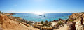 Panorama of the beach at luxury hotel sharm el sheikh egypt Stock Photography