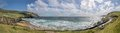 Panorama of the beach slea head iveragh peninsula county kerry ireland Stock Image