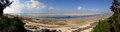 Panorama beach vilanculos low tide Royalty Free Stock Photo