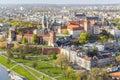 Panorama of beautiful krakow former capital city of poland eur Stock Photos