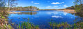 Panorama of beautiful lake in poland Stock Images