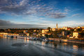 Panorama of belgrade view from the bridge Royalty Free Stock Photos