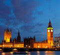 Panorama Big Ben Royalty Free Stock Image