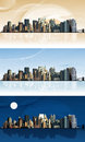 Panorama of the big city raster version illustration Stock Images