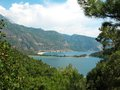 Panorama of blue lagoon and beach oludeniz turkey Royalty Free Stock Photos