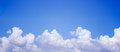 Panorama blue sky with clouds natural background Royalty Free Stock Photography