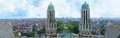 Panorama of brussels belgium june the art deco bell towers basilique du sacre coeur with the modern city districts on the Stock Photos