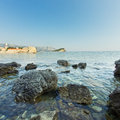 The panorama of Budva Old town. Montenegro Royalty Free Stock Photo