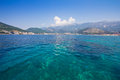 Panorama of Budva View from the sea Stock Images