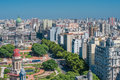 Panorama of buenos aires argentina panoramic view Royalty Free Stock Image