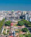 Panorama of buenos aires argentina south america Stock Photos