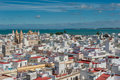 Panorama of cadiz spain panoramic view Stock Image
