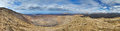 Panorama of Caldera Blanca, Lanzarote, Canary. Royalty Free Stock Image
