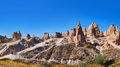 Panorama of Camel rock at Cappadocia Turkey Stock Images