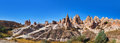 Panorama of Camel rock at Cappadocia Turkey Royalty Free Stock Photo