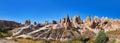 Panorama of Camel rock at Cappadocia Turkey Royalty Free Stock Photo