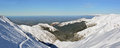 Panorama of The Canterbury Plains from the Mount Hutt Ski Field, Royalty Free Stock Photo
