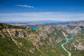 Panorama of the canyon of verdon provence france Royalty Free Stock Photos