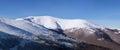 Panorama of carpathian mountains winter landscape ukraine Royalty Free Stock Images