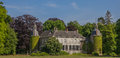 Panorama of Castle Hackfort near Vorden in Gelderland Royalty Free Stock Photo