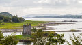 Panorama of Castle Stalker, Scotland Royalty Free Stock Photo