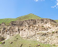 Panorama of  cave city in Vardzia,Georgia Stock Images