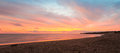 Panorama of Cavendish beach at the crack of dawn Royalty Free Stock Photo