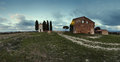 Panorama of chapel of Madonna di Vitaleta Royalty Free Stock Photo
