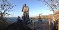 Panorama from Charles Darwin statue Royalty Free Stock Photo