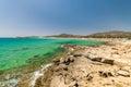 Panorama of Chia coast, Sardinia, Italy.