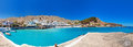 Panorama of chora sfakion a little village in a south coast crete hora Stock Photography